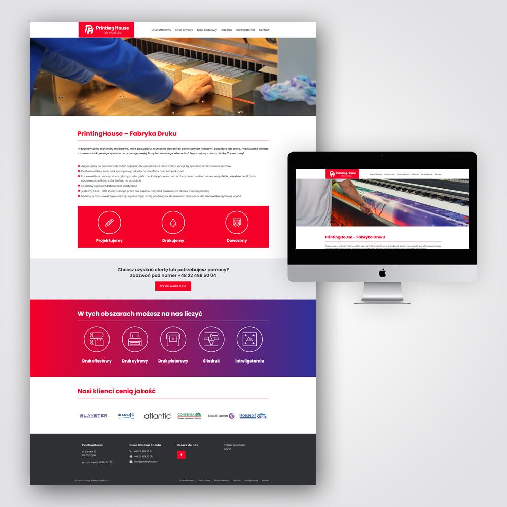 Projekt strony internetowej Kielce - Printing House