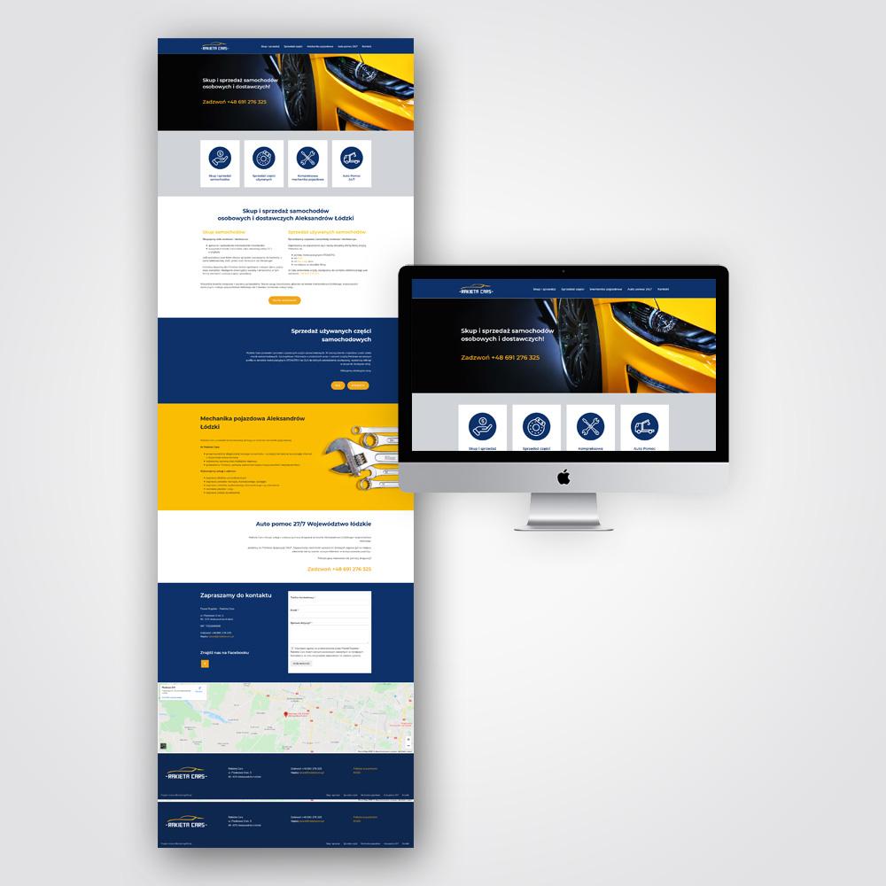 Projekt strony internetowej - Rakieta Cars