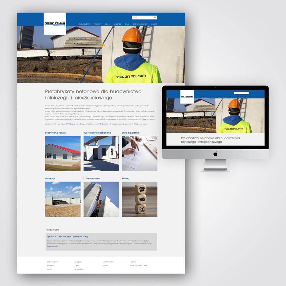 Precon Polska - budowa strony www