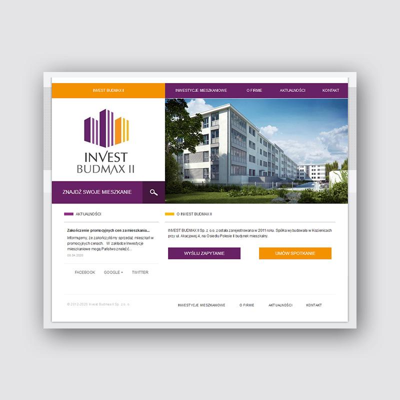 Projekt strony www dewelopera mieszkaniowego i systemu CMS zarządzania sprzedażą