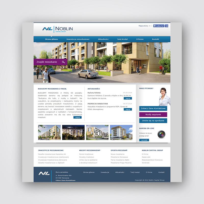 Projekt strony www dewelopera mieszkaniowego + system CMS