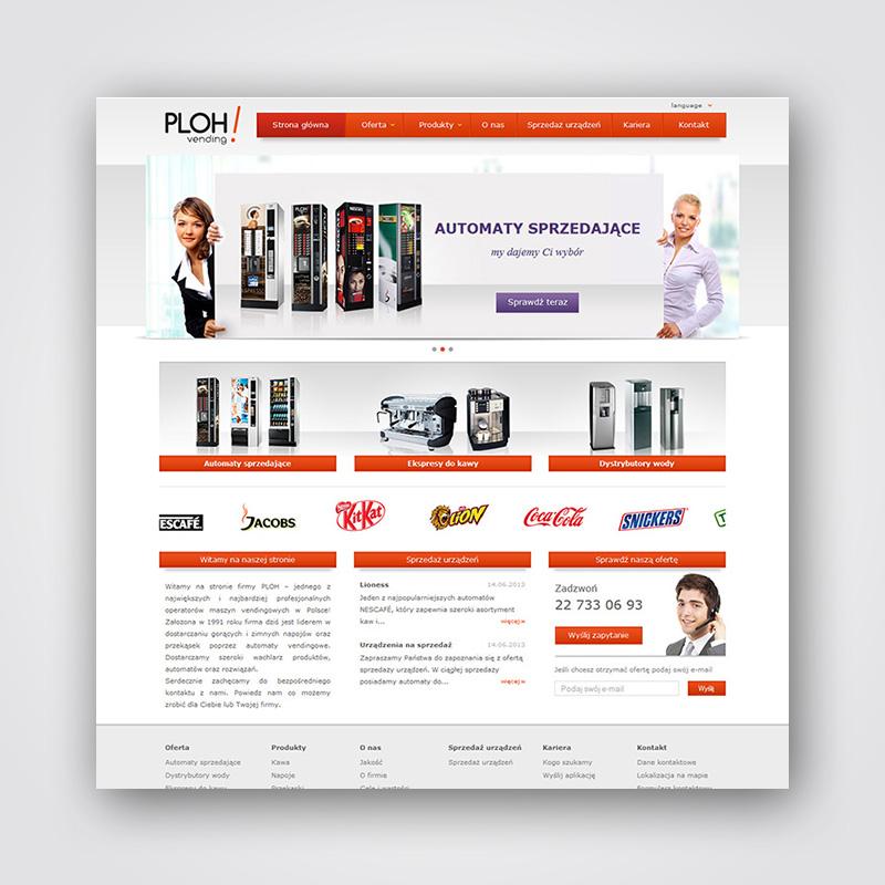 PLOH vening! - projekt strony www + CMS