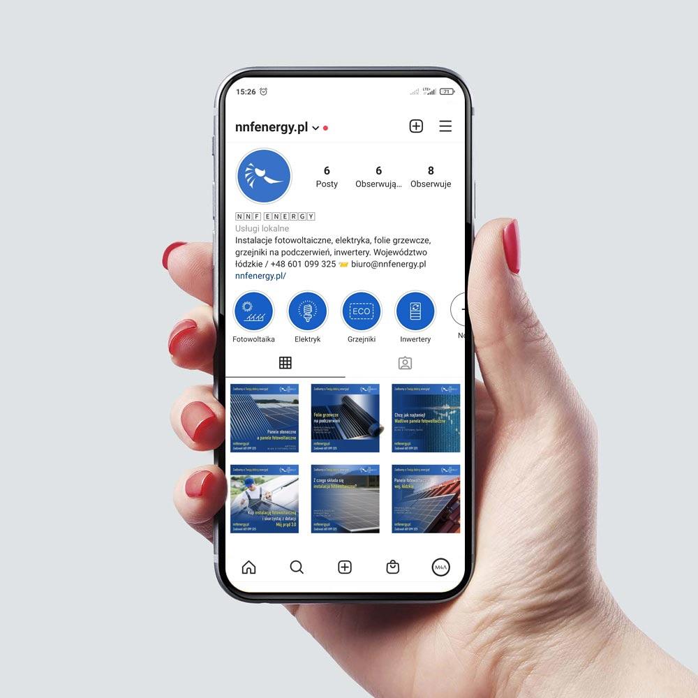 Obsługa Instagram - NNF Energy województwo łódzkie
